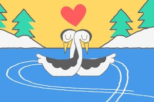 Google посвятил дудл Дню святого Валентина