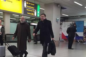 Saakashvili showed up in Amsterdam.