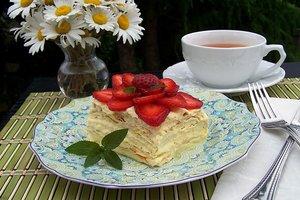 """Для тех, кто на диете: низкокалорийный торт """"Наполеон"""""""