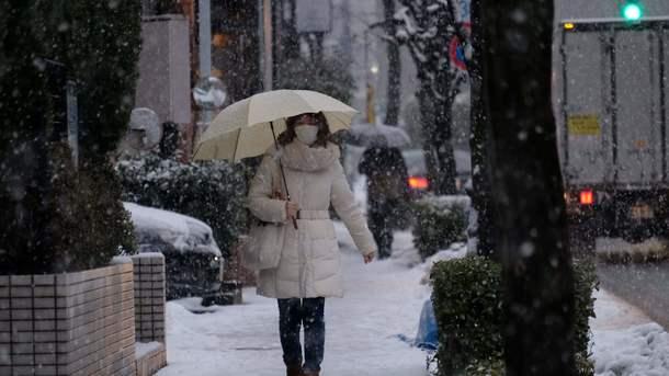 На Японию обрушились сильные снегопады: 15 погибших, сотни раненых
