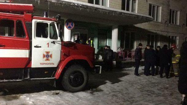 В Тернополе горела детская больница