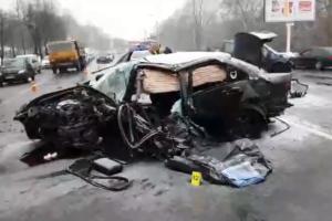 В Киеве полицейский погиб в лобовом ДТП