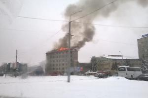 A powerful fire in Lvov: details