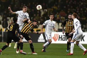 Dynamo kept the winning score in the first match of 1/16 finals of the Europa League