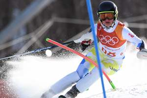 Ukrainian Olga Knysh climbed five positions in the finals of the Olympic games-2018 in slalom