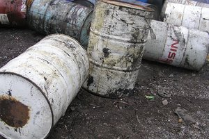 On the territory of military unit in Lviv found the barrels of suspicious hemisection