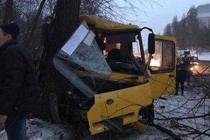 In Kiev, two bus don't share the road: 12 victims