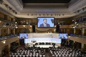 Poroshenko, speaking at the Munich conference: talking about the President