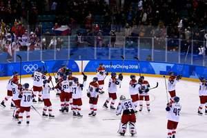 Czech hockey players beat Canada in shootout