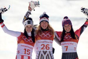 Подиум в горнолыжном спорте. Фото AFP