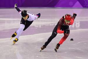 Gold in the short track allowed Canada to outpace the United States in the medal standings