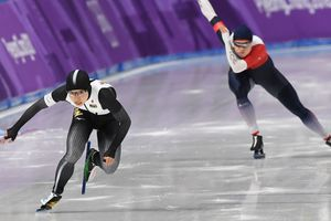 Japanese speed skater with the Olympic record and won the gold medal Pyeongchang 2018