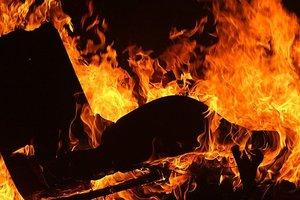 Пожар под Харьковом: двое погибли, трое пострадали