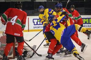Юниорская сборная Украины проиграла венгерским хоккеистам