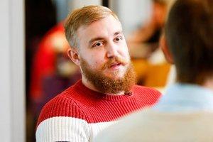 The main bearded Ukrainian hockey: