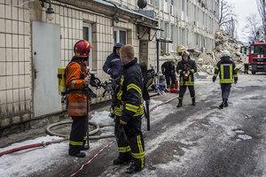 В Киеве загорелось офисное здание