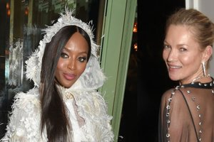 Битва образов: Наоми Кэмпбелл и Кейт Мосс посетили вечеринку Vogue