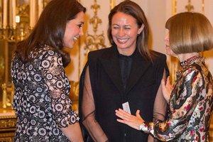 На каблуках и в платье за три тысячи долларов: беременная Кейт Миддлтон на приеме в Букингемском дворце