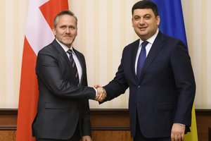 Groysman met with Minister of foreign Affairs of Denmark: discussed sanctions and the progress of reforms in Ukraine