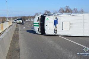 """На международной трассе """"Ковель-Ягодин"""" перевернулось авто  инкассаторов"""