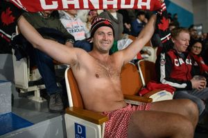 Canadian fans shocked the viewers of the Olympics - he goes in his underpants