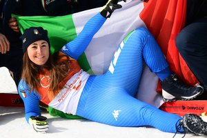 25-year-old Italian won the downhill at the Olympics