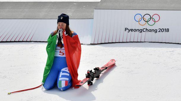 Итальянская горнолыжница София Годжа завоевала золото Олимпиады вскоростном спуске