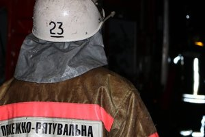In Kiev rescued by firefighters the man died in the ambulance