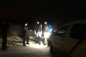 The Kiev sea fishermen has carried away on an ice floe broken off