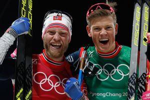 """Норвегия взяла 12-е """"золото"""" Олимпиады - в командном спринте в лыжных гонках"""