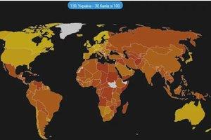 Индекс восприятия коррупции Transparency International: Украина опередила Россию и заняла 130 место