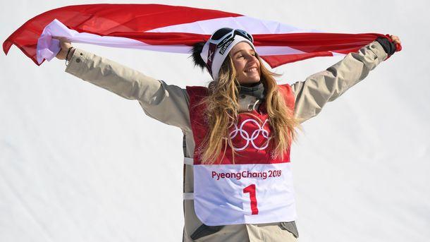 Австрийская сноубордистка Гассер завоевала «золото» Пхенчхана вбиг-эйре