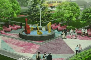 Reconstruction of parks in Kiev: where do you want to create a scene-crystal and unusual fountains