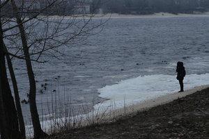 In Kiev, the Dnieper river got a woman's body