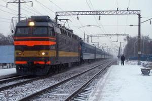 Near Kiev train knocked down a guy with headphones