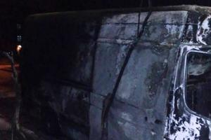 In Zaporozhye burned bus