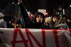 In Italy, anti-fascists staged clashes with the police