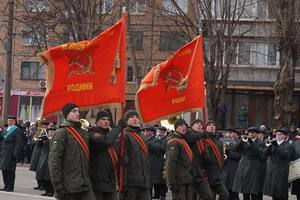 The national guard in Krivoy Rog marched under the Soviet flag: the social network shocked