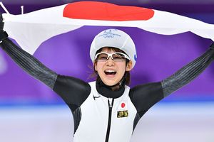 Gold medal in the mass start at the Olympics 2018 went to Japanese skater