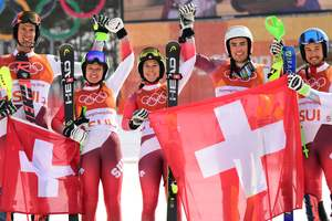 In Alpine skiing at the Olympics the 2018 played last set of medals