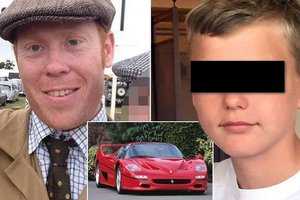 The businessman took a ride baby who enjoyed his Ferrari and killed him in an accident