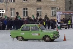 In Cherkasy held a race on the stock car (video)