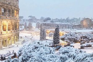 Rome was covered with snow: unique photo