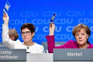 Merkel's party gave the