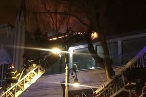 In Tbilisi at the large flea market there was a fire