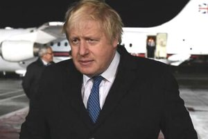 Johnson made a statement to Britain's participation in military operations against Assad