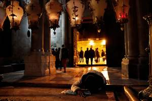 In Jerusalem, opened the Church of the Holy Sepulchre after protests