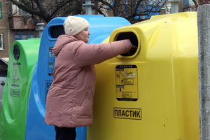 How to install tanks for waste sorting in Kiev the yard