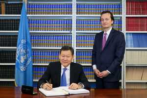 Kazakhstan signed the Treaty for the prohibition of nuclear weapons