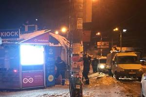 In Kiev began to demolish the kiosks near the metro station